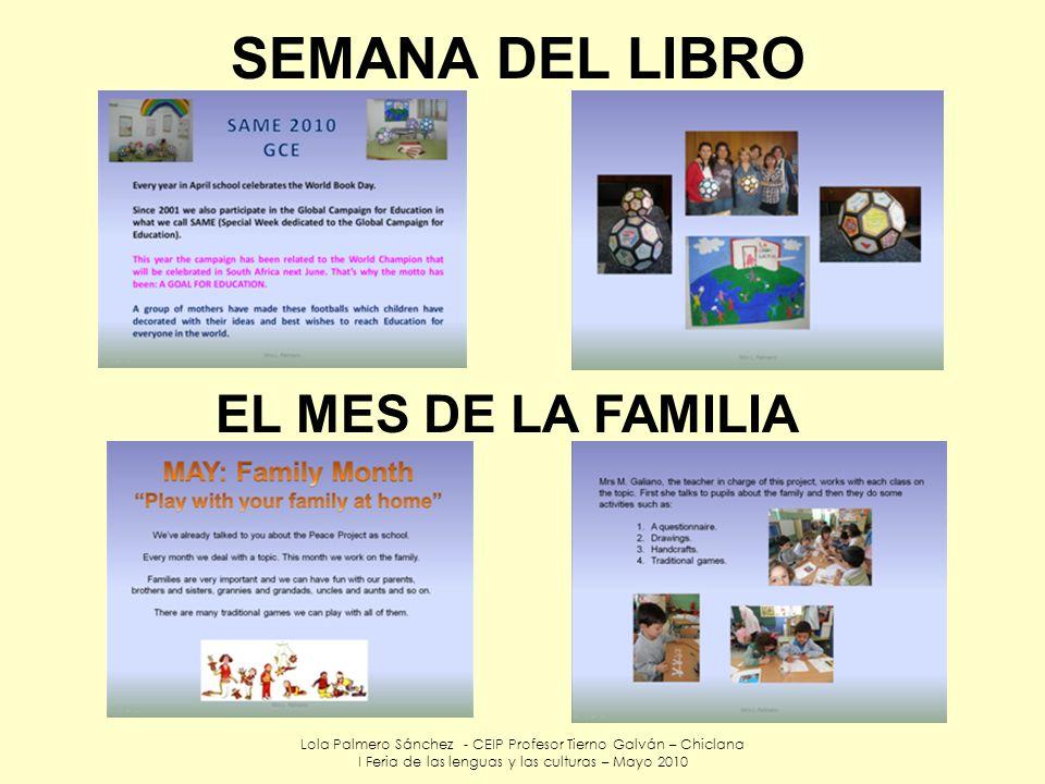 SEMANA DEL LIBRO EL MES DE LA FAMILIA