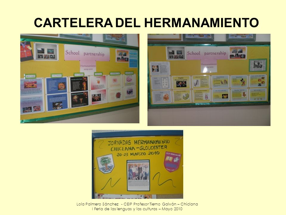 CARTELERA DEL HERMANAMIENTO