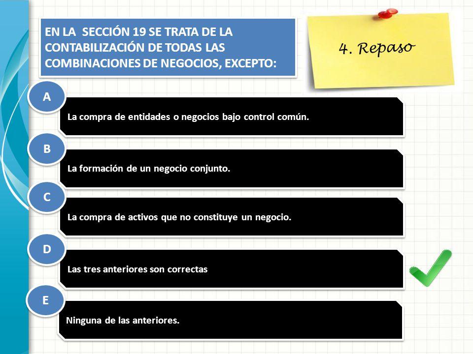 4. Repaso EN LA SECCIÓN 19 SE TRATA DE LA