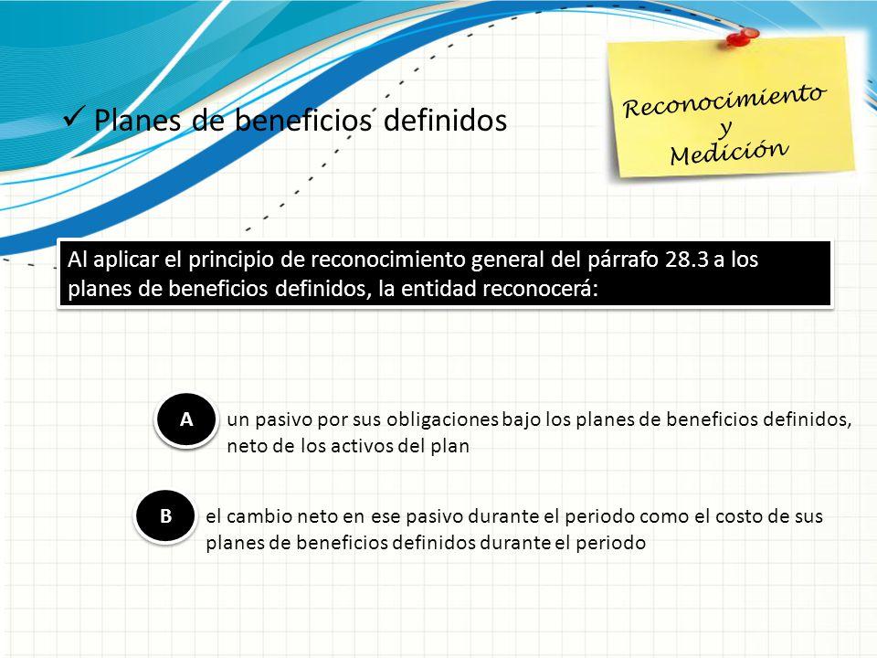 Planes de beneficios definidos