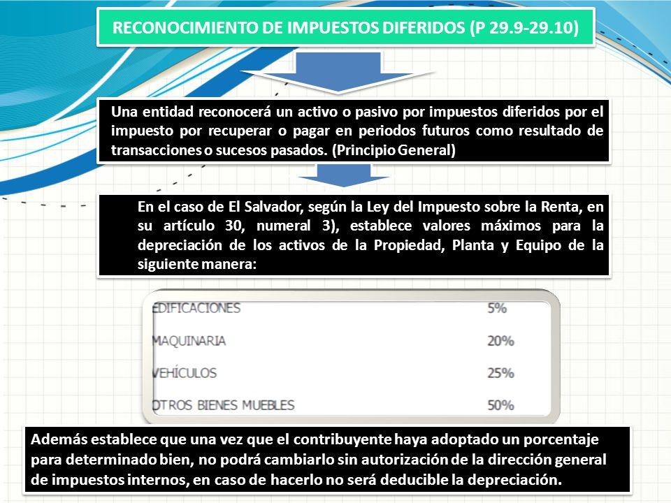 RECONOCIMIENTO DE IMPUESTOS DIFERIDOS (P 29.9-29.10)