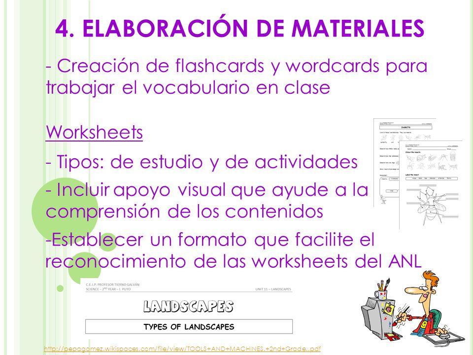 4. ELABORACIÓN DE MATERIALES