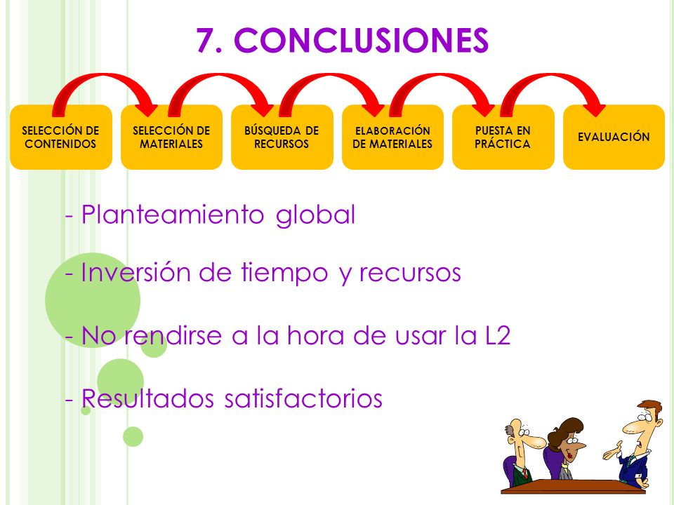 7. CONCLUSIONES - Planteamiento global