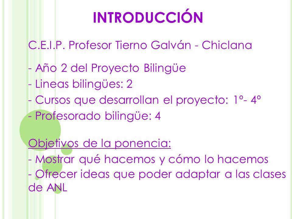 INTRODUCCIÓN C.E.I.P. Profesor Tierno Galván - Chiclana