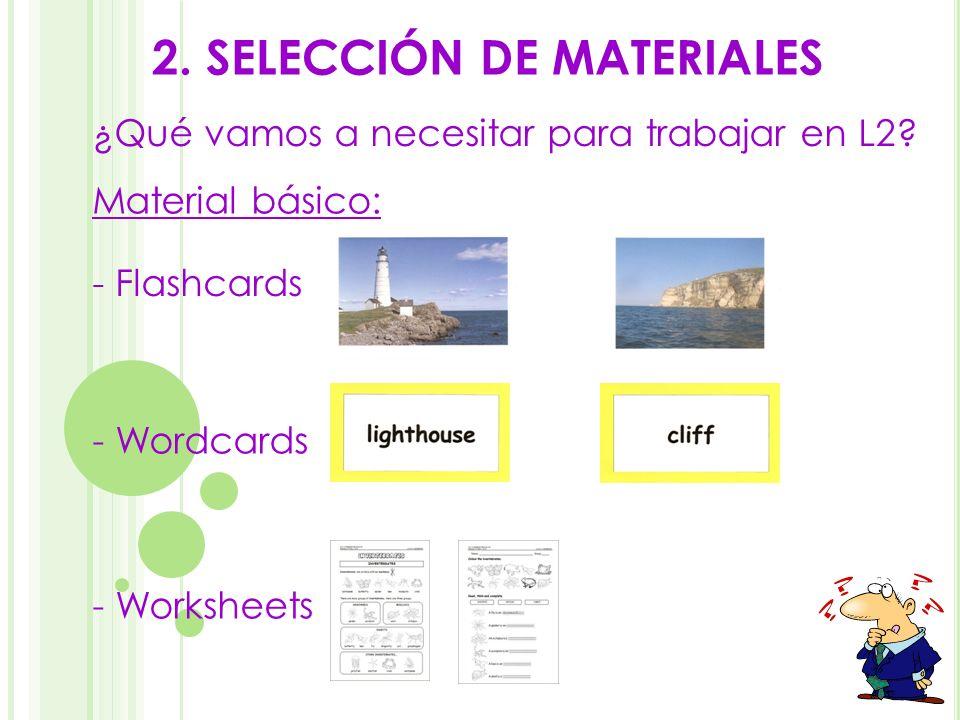 2. SELECCIÓN DE MATERIALES
