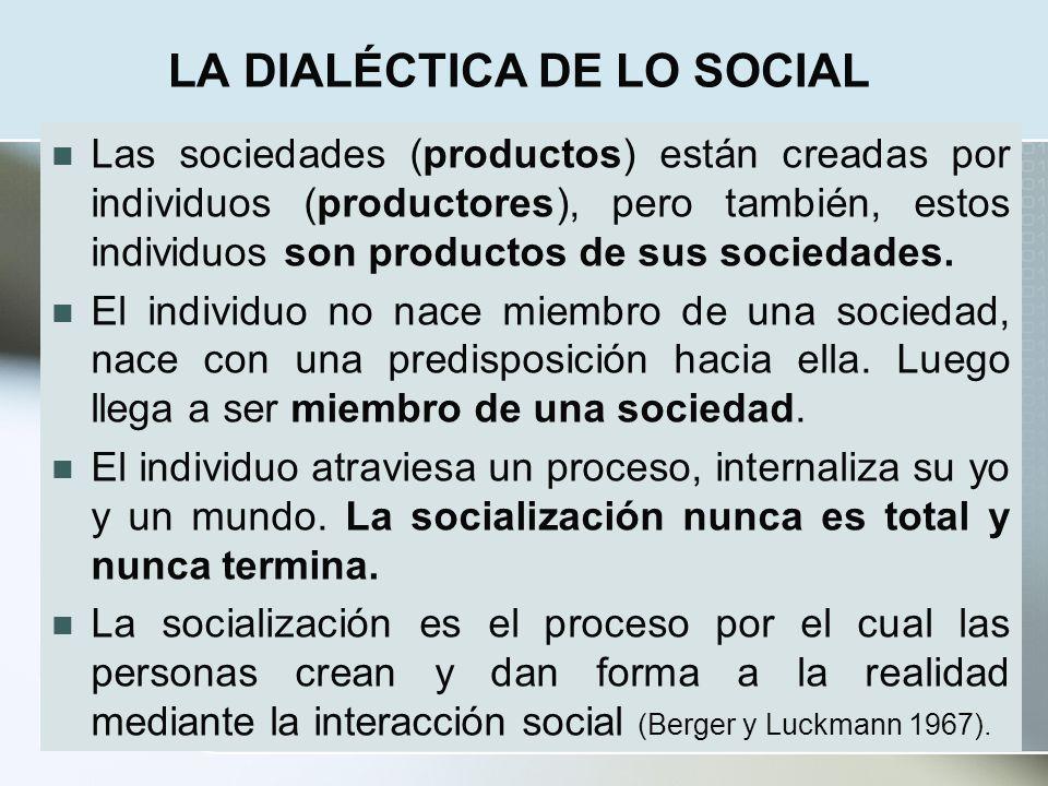 LA DIALÉCTICA DE LO SOCIAL