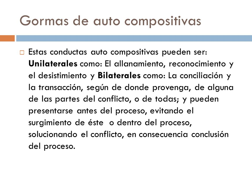 Gormas de auto compositivas