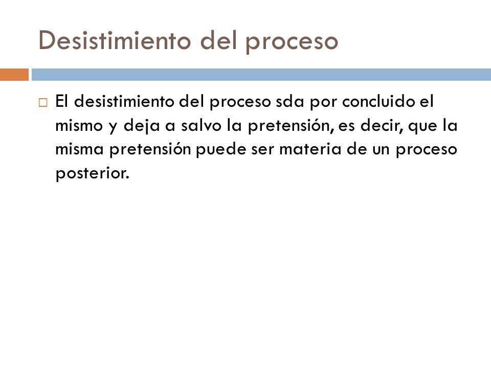 Desistimiento del proceso