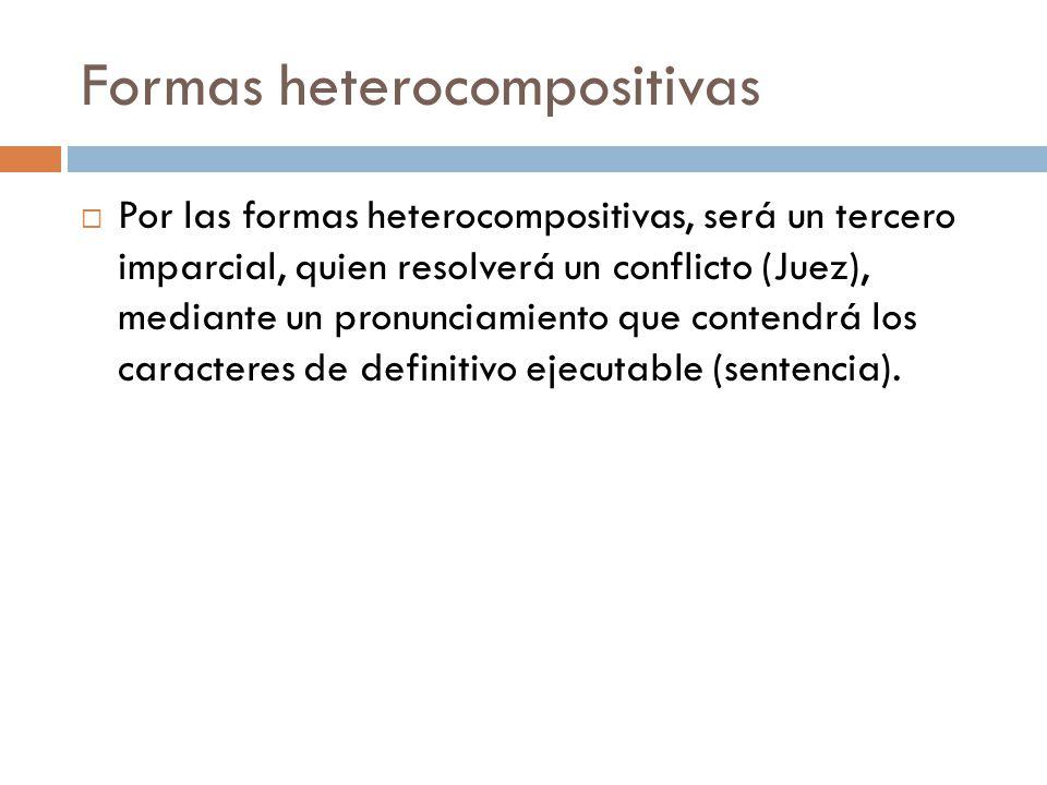 Formas heterocompositivas