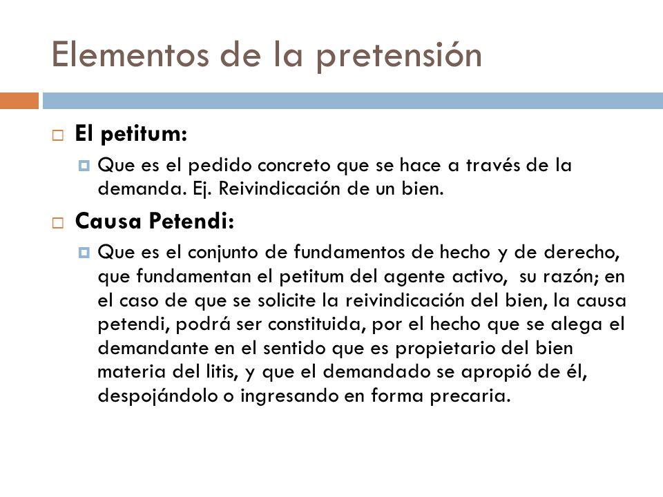 Elementos de la pretensión