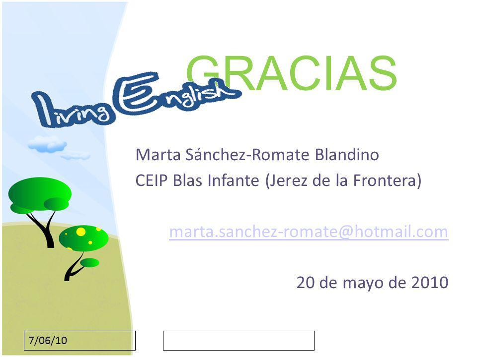 GRACIAS Marta Sánchez-Romate Blandino