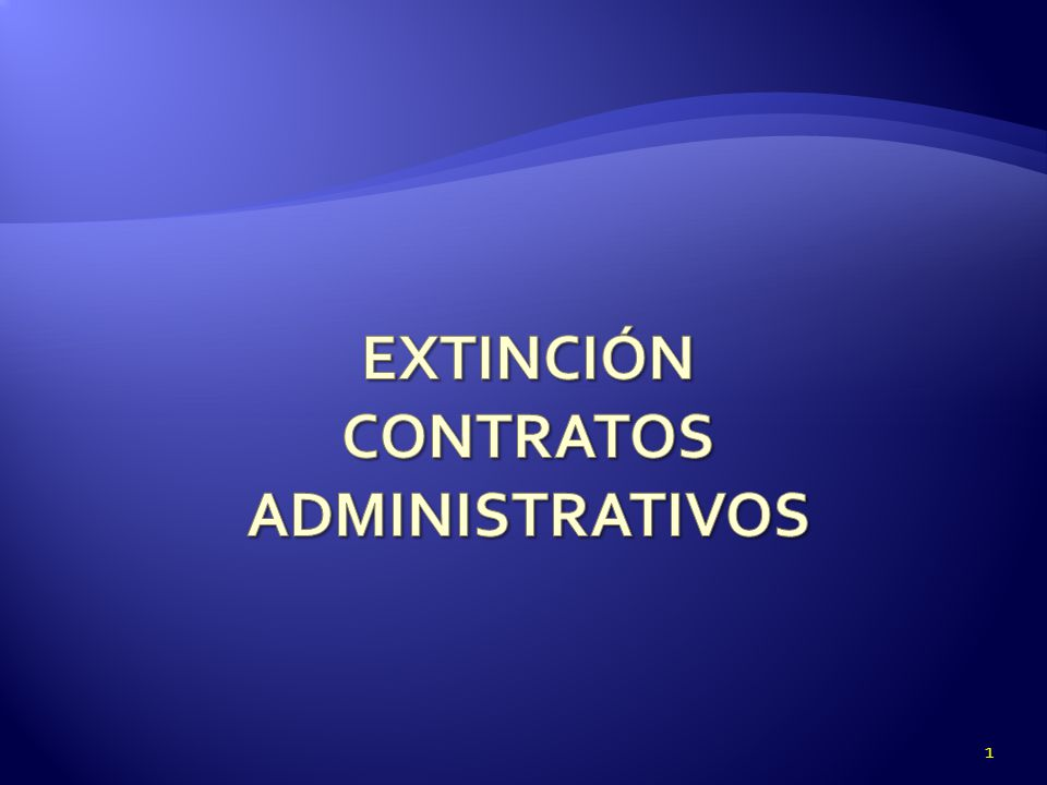 Extinción Contratos Administrativos