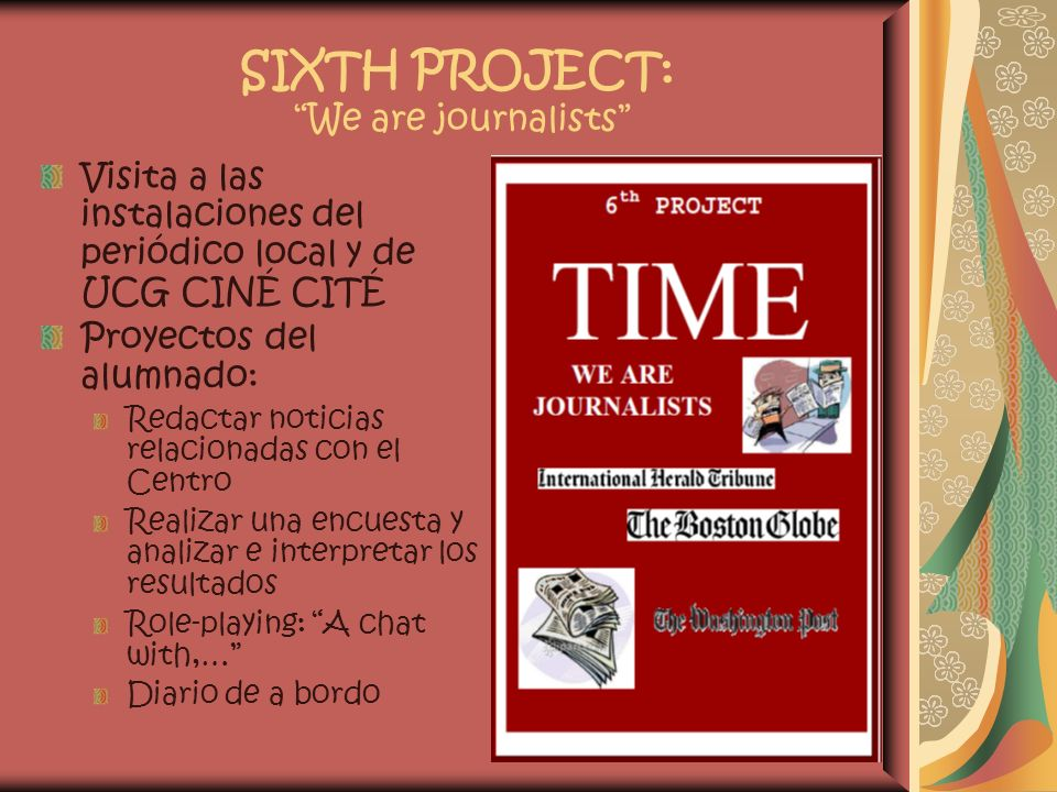 SIXTH PROJECT: We are journalists