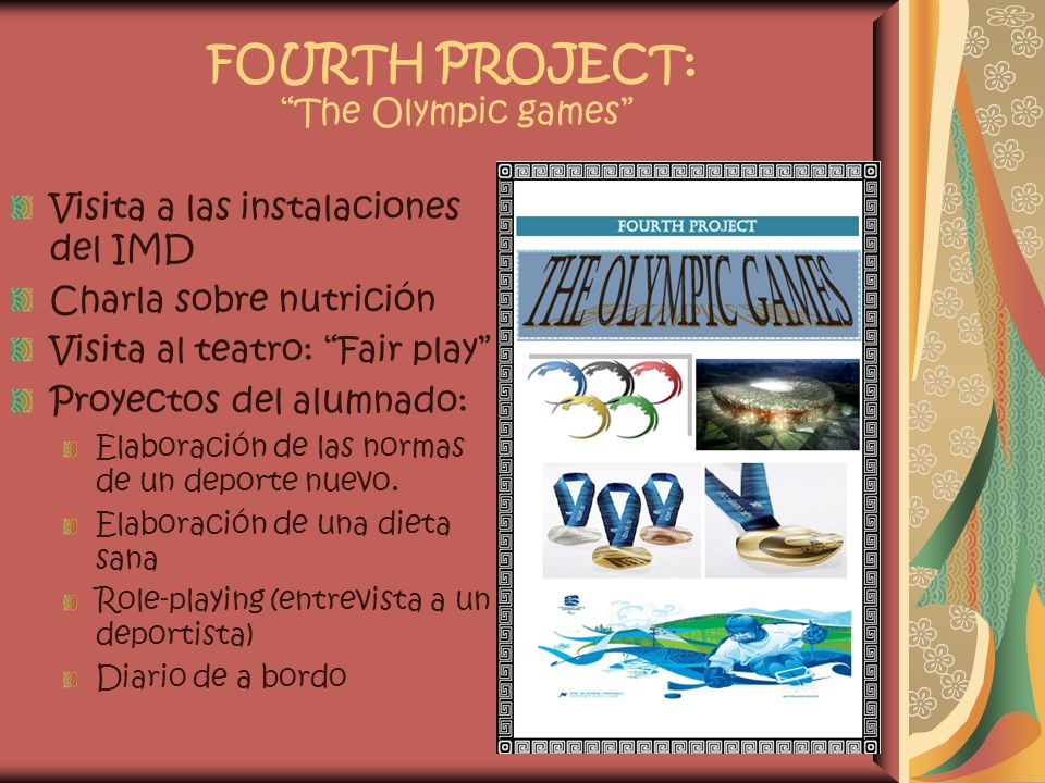 FOURTH PROJECT: The Olympic games