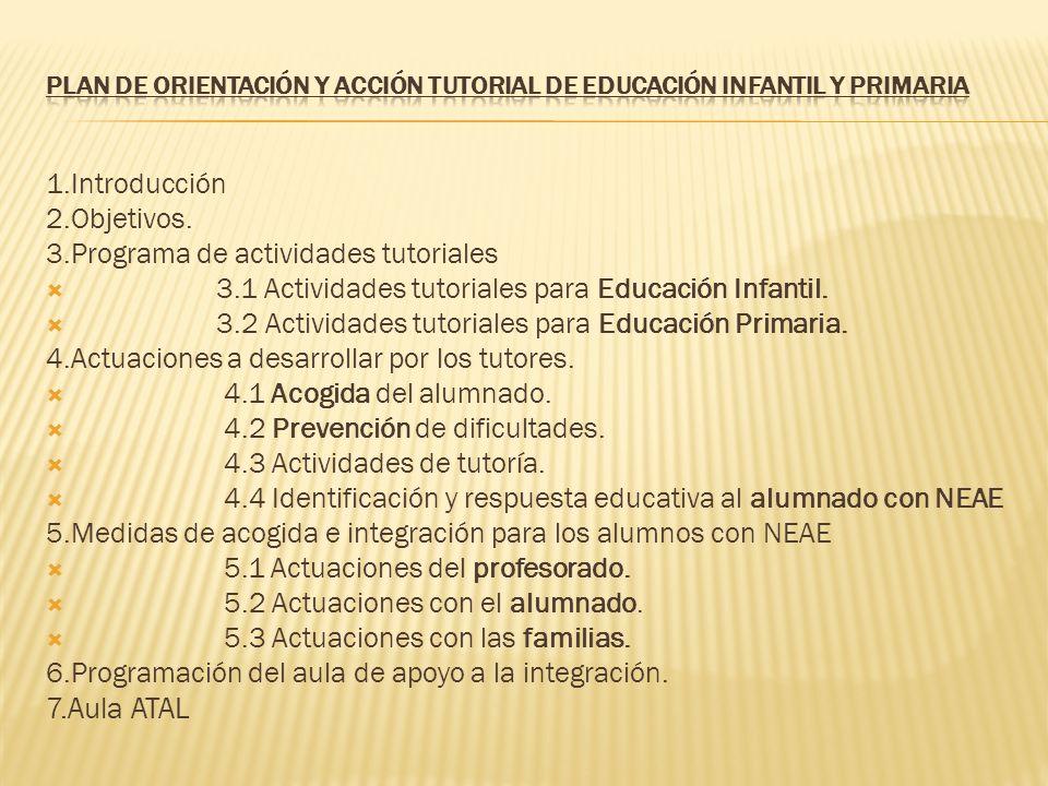 PLAN DE ORIENTACIÓN Y ACCIÓN TUTORIAL DE EDUCACIÓN INFANTIL Y PRIMARIA