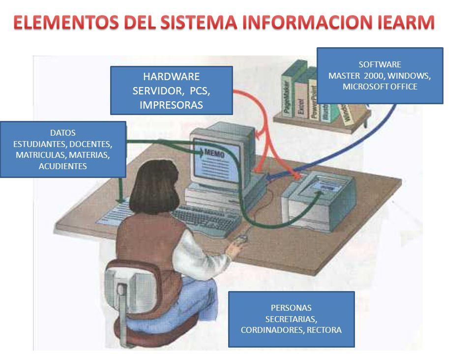 ELEMENTOS DEL SISTEMA INFORMACION IEARM