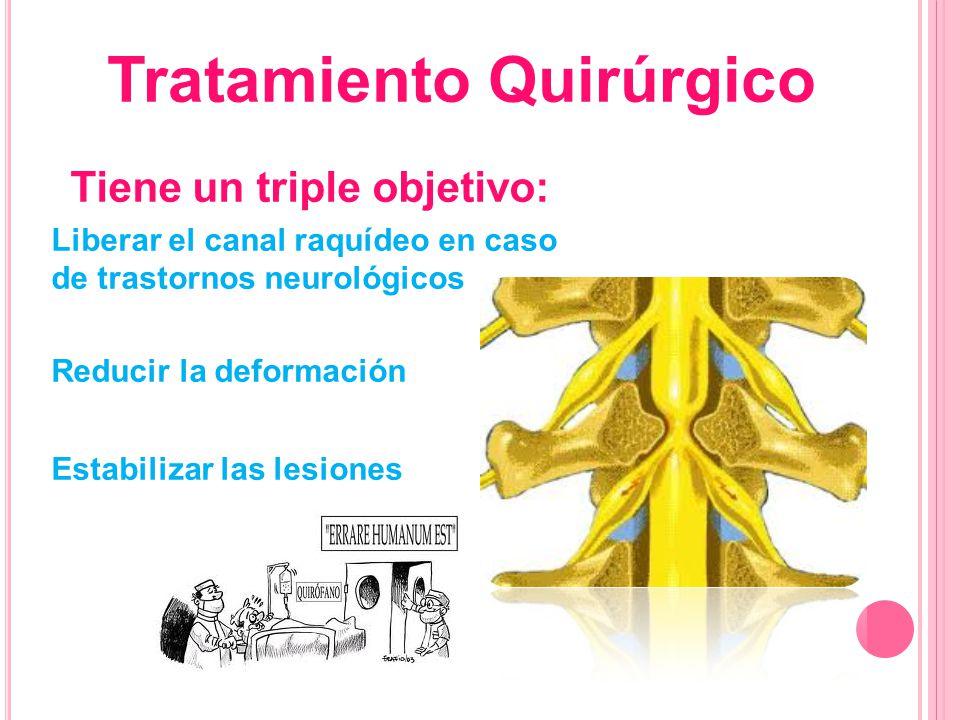 Tratamiento Quirúrgico Tiene un triple objetivo: