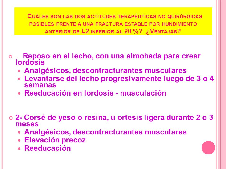Analgésicos, descontracturantes musculares