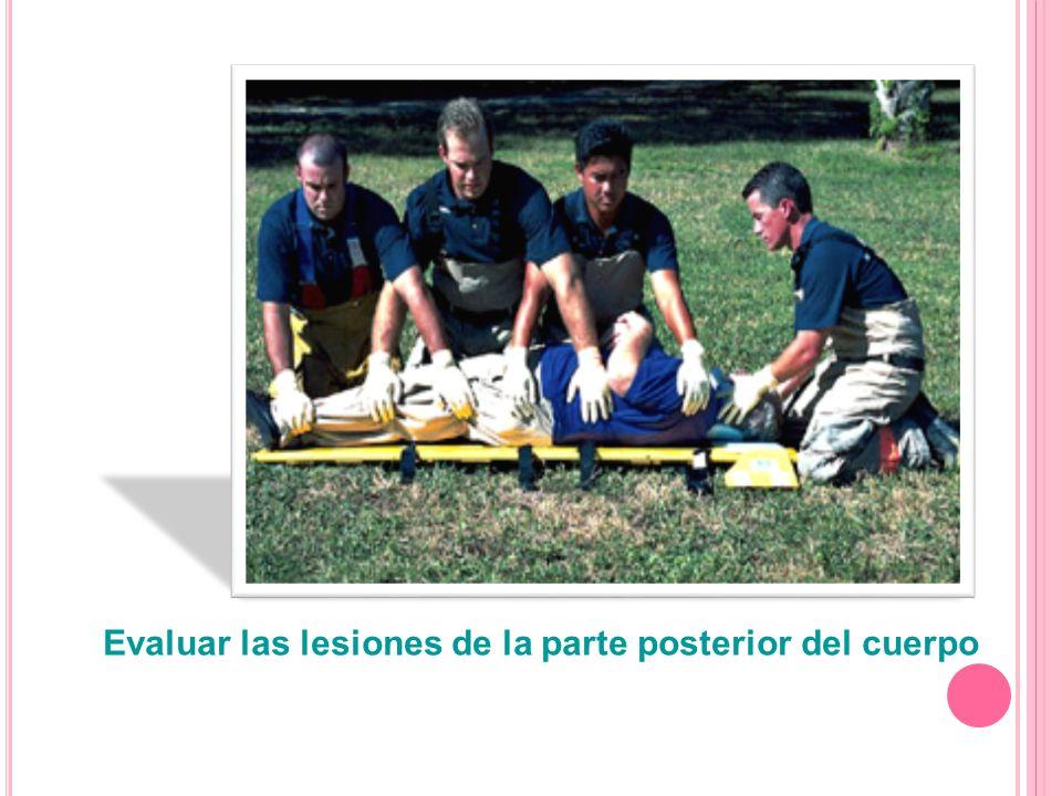 Evaluar las lesiones de la parte posterior del cuerpo