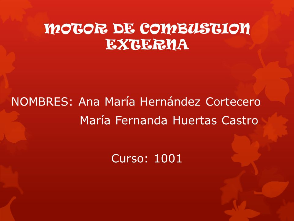MOTOR DE COMBUSTION EXTERNA