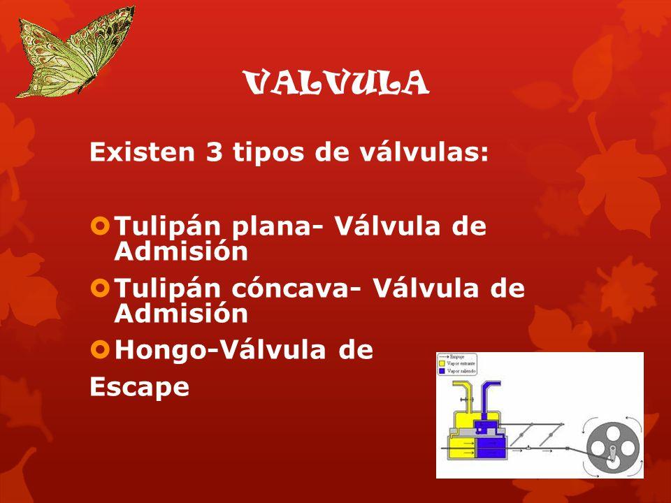 VALVULA Existen 3 tipos de válvulas: