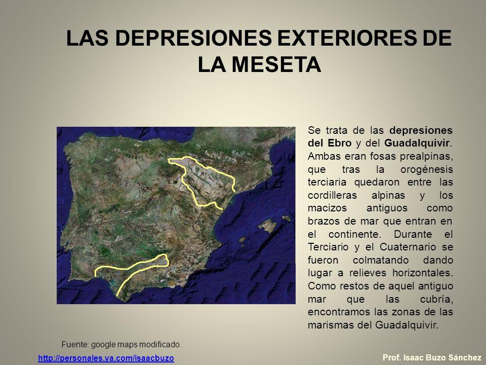 LAS DEPRESIONES EXTERIORES DE LA MESETA