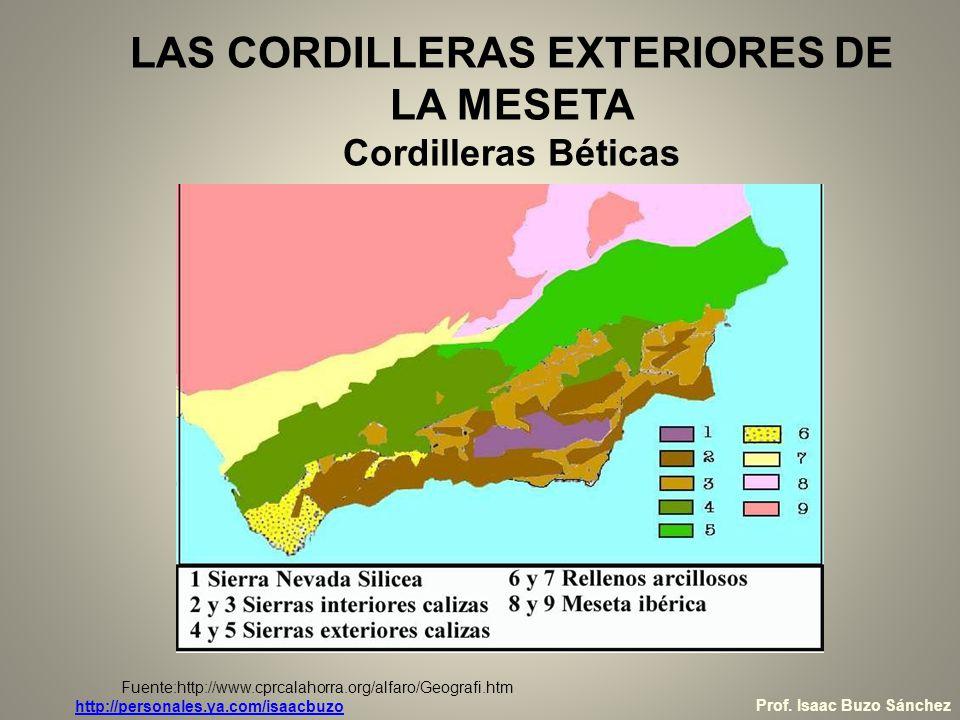 LAS CORDILLERAS EXTERIORES DE LA MESETA Cordilleras Béticas