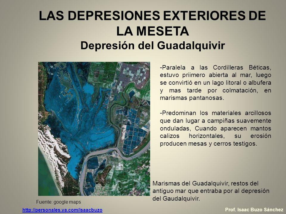 LAS DEPRESIONES EXTERIORES DE LA MESETA Depresión del Guadalquivir