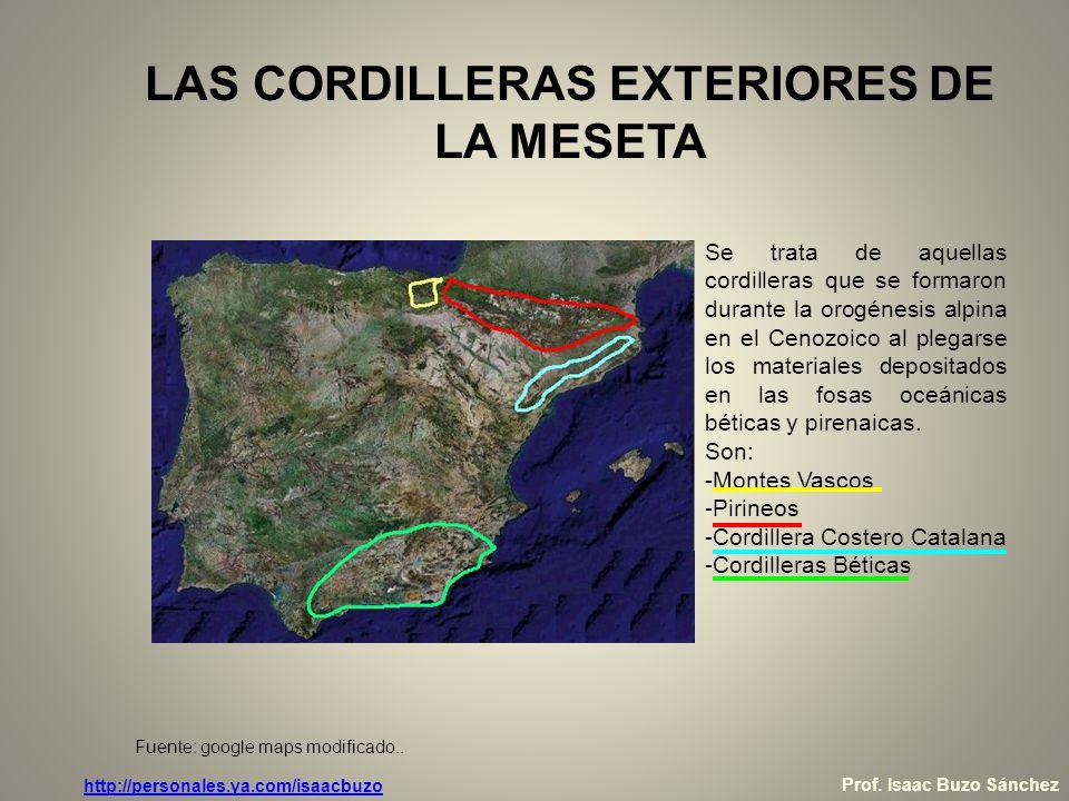 LAS CORDILLERAS EXTERIORES DE LA MESETA