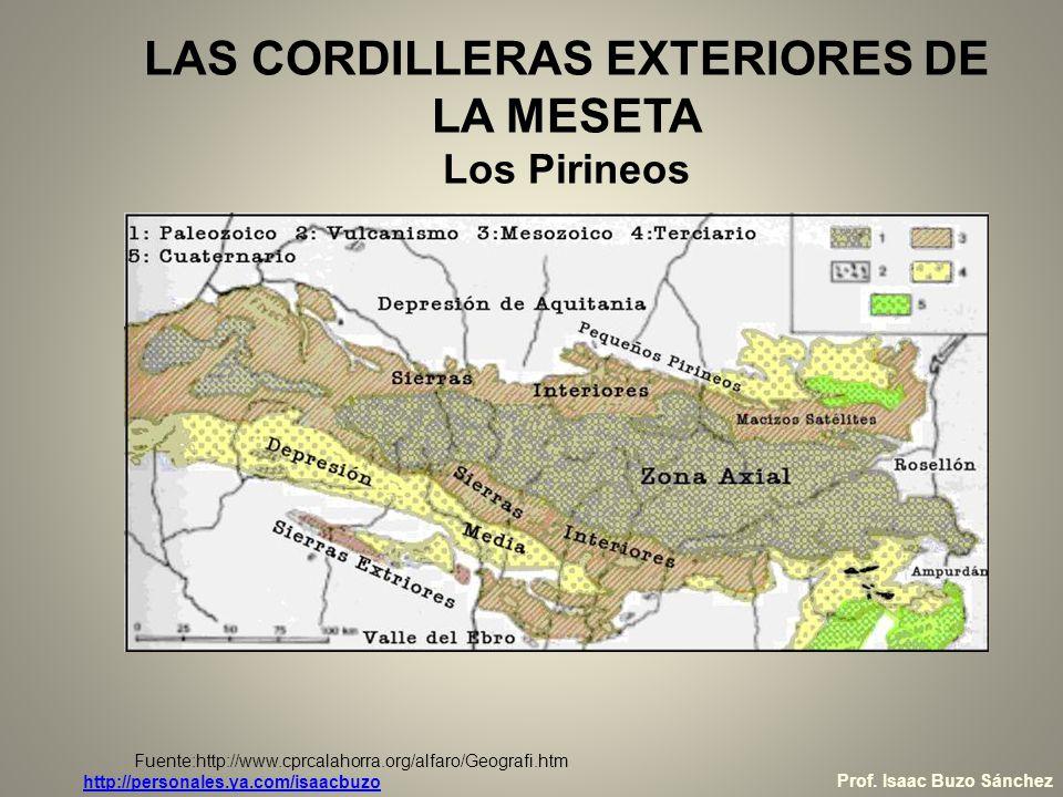 LAS CORDILLERAS EXTERIORES DE LA MESETA Los Pirineos