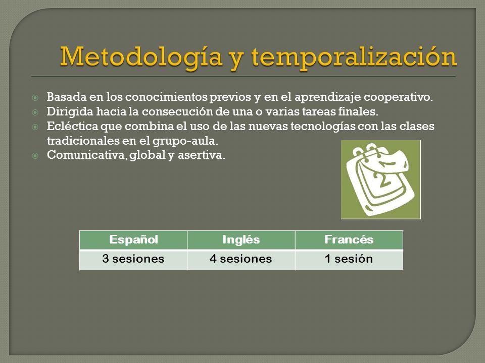 Metodología y temporalización