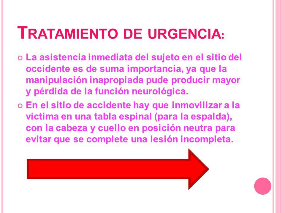 Tratamiento de urgencia:
