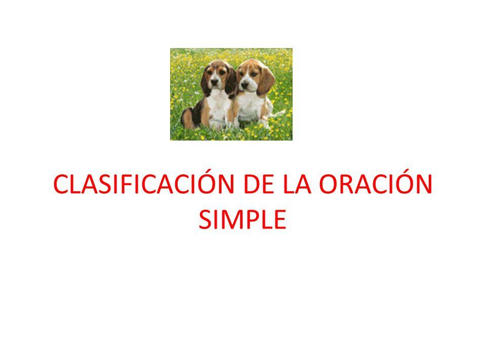 Resultado de imagen de clasificación de la oración simple
