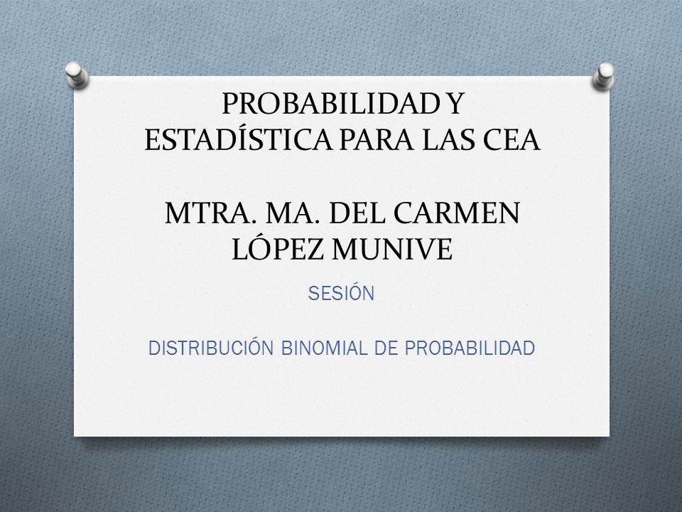 SESIÓN DISTRIBUCIÓN BINOMIAL DE PROBABILIDAD
