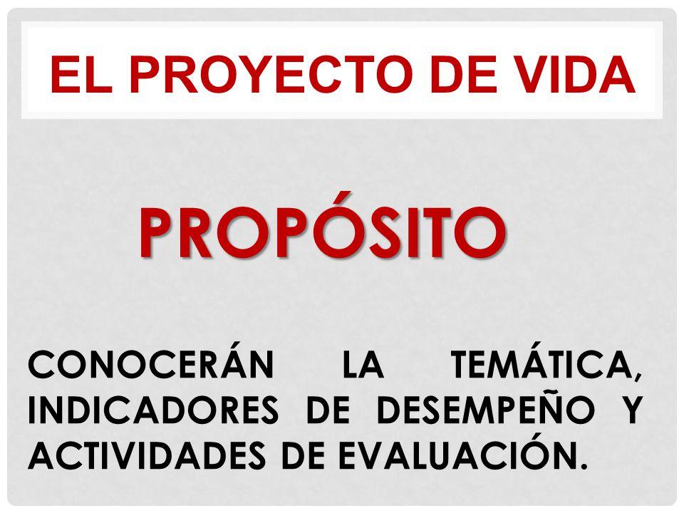 PROPÓSITO EL PROYECTO DE VIDA
