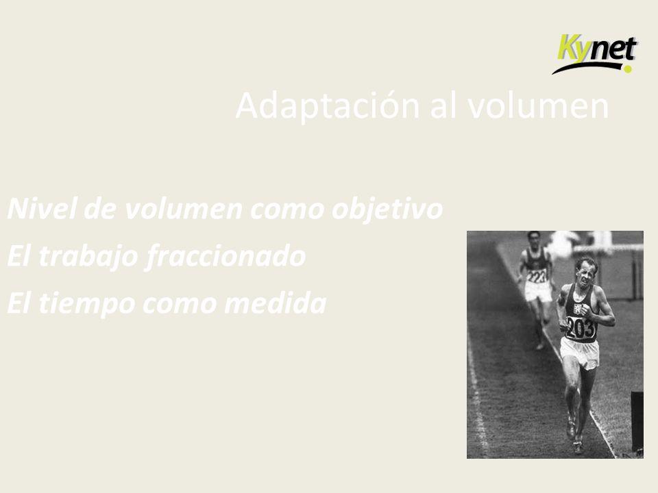 Adaptación al volumen Nivel de volumen como objetivo
