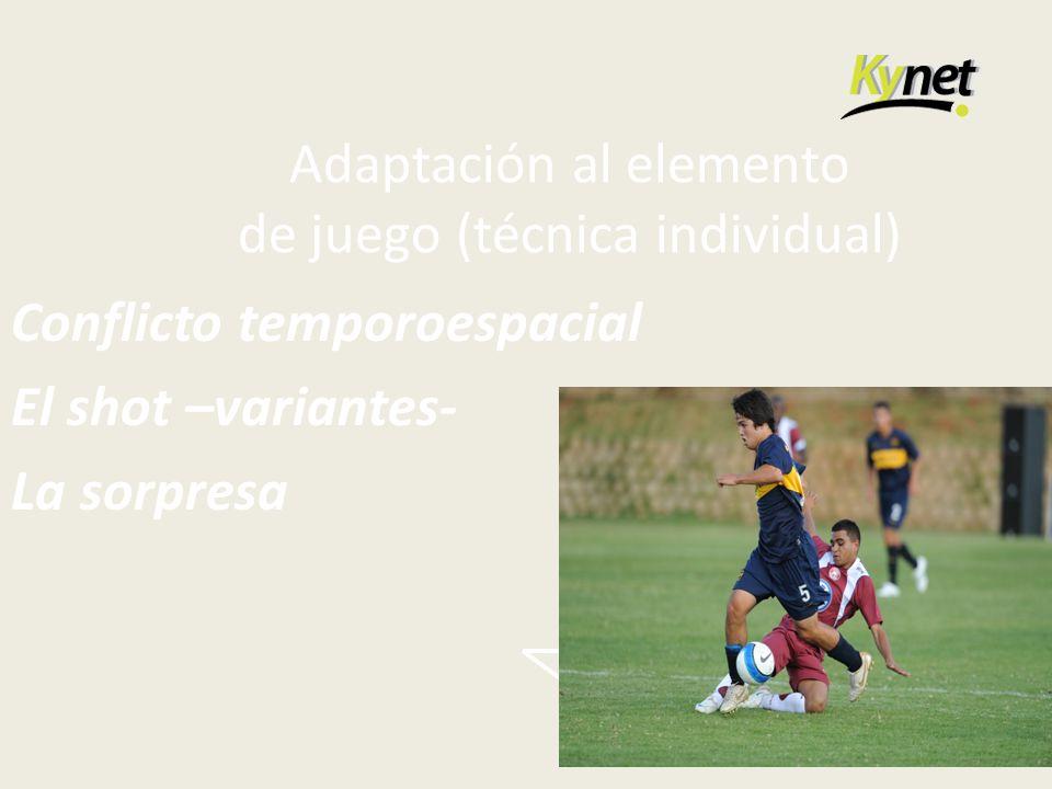 Adaptación al elemento de juego (técnica individual)
