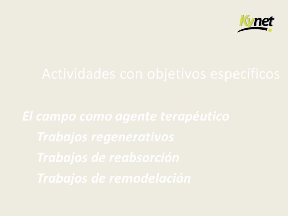 Actividades con objetivos específicos