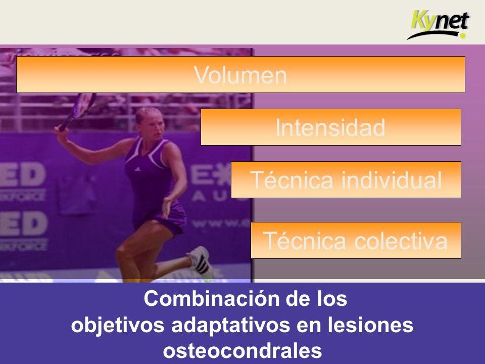 Combinación de los objetivos adaptativos en lesiones osteocondrales