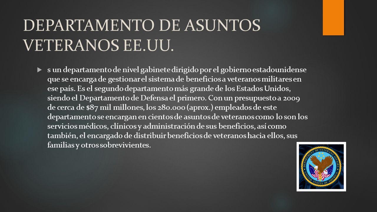 DEPARTAMENTO DE ASUNTOS VETERANOS EE.UU.