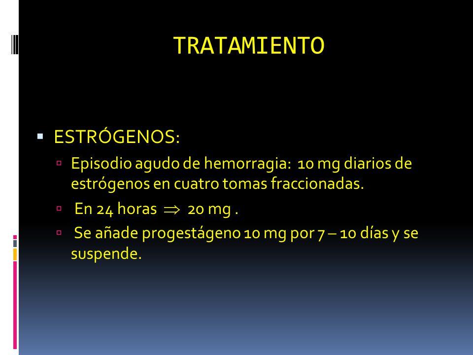 TRATAMIENTO ESTRÓGENOS:
