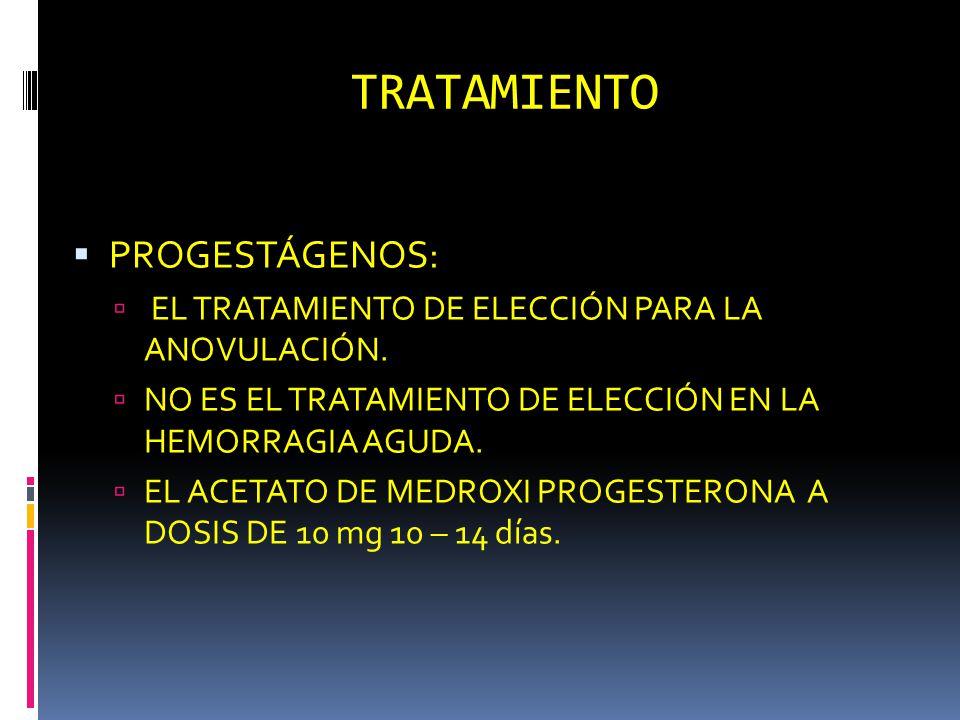 TRATAMIENTO PROGESTÁGENOS: