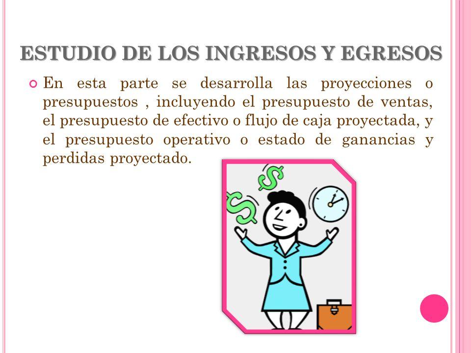 ESTUDIO DE LOS INGRESOS Y EGRESOS