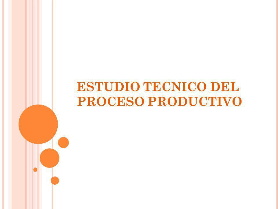 ESTUDIO TECNICO DEL PROCESO PRODUCTIVO