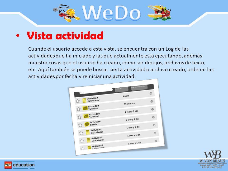 WeDo Vista actividad.