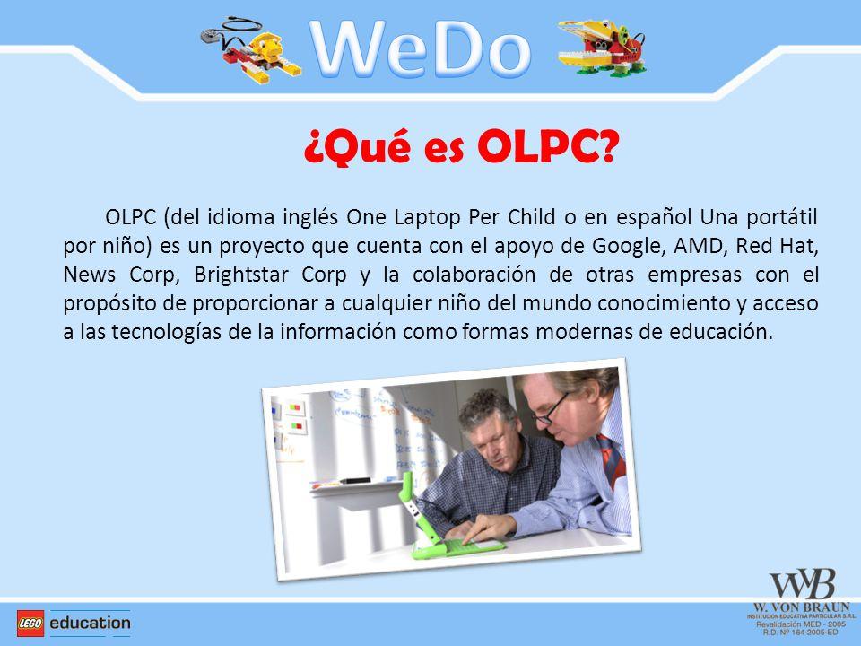 WeDo ¿Qué es OLPC