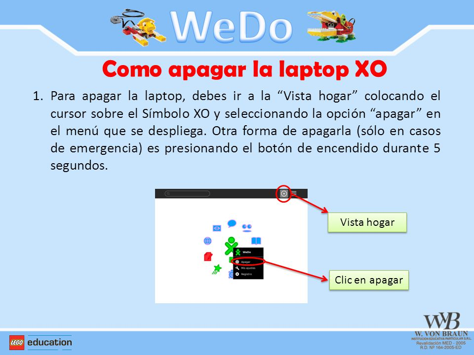 Como apagar la laptop XO