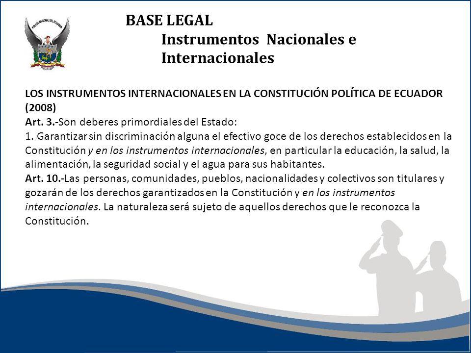 Instrumentos Nacionales e Internacionales