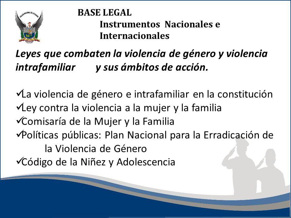 La violencia de género e intrafamiliar en la constitución