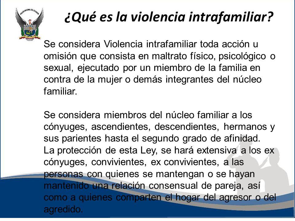¿Qué es la violencia intrafamiliar